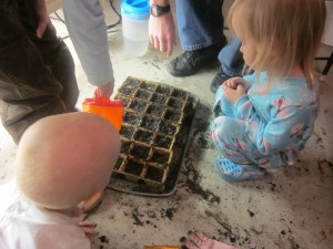 Grow Light - Girls and Baby Planting