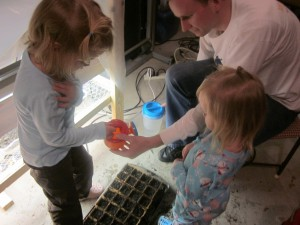 Grow Light - Girls Planting 1