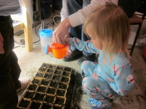 Grow Light - Girls Planting 3