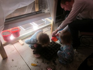 Grow Light - Girls Planting 4